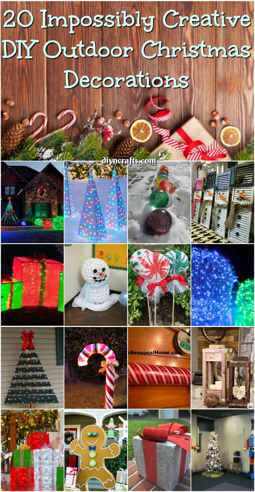 20 Impossibly Creative DIY Outdoor Christmas Decorations {Brilliant ideas}