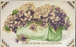 Pocketbook Full of Violets - Glass Beaded Postcard by Yesterdays-Paper
